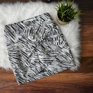 Anthro Leifsdottir Knot Detail Patterned Skirt